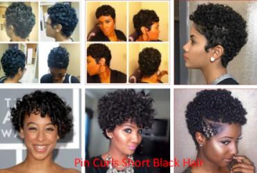 Pin Curls Short Black Hair